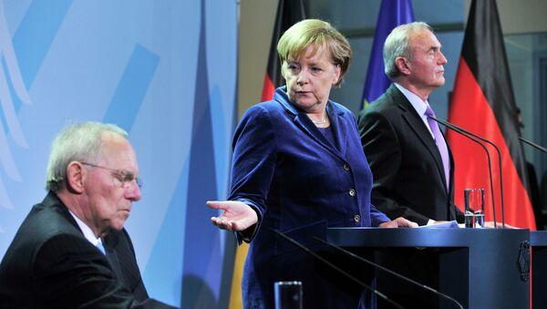 Nemačka kancelarka Angela Merkel i nemački ministar finansija Volfgang Šojble - Sputnik Srbija