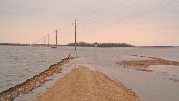 Prizor iz poplavljenog područja - Sputnik Srbija