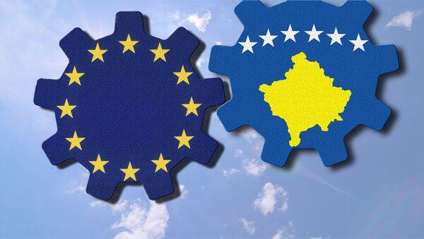 Застава Еу и сапроглашене државе Косово - Sputnik Србија