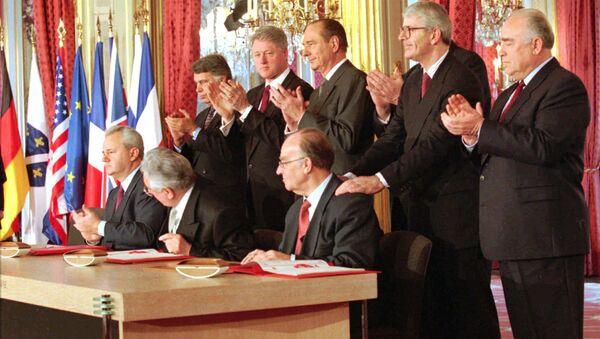 Potpisivanje Dejtonskog sporazuma - Sputnik Srbija