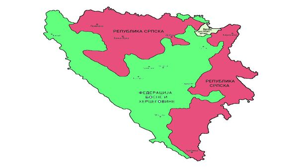 Republika Srpska (crveno) i Brčko distrikt (zeleno) - Sputnik Srbija