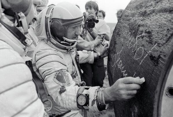 Сојуз-Аполо: 40 година од историјског совјетско-америчког лета у свемир - Sputnik Србија