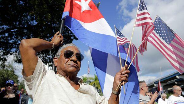 Zastave Amerike i Kube - Sputnik Srbija