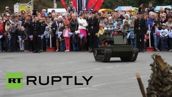 Нови борбени робот платформа М - Sputnik Србија