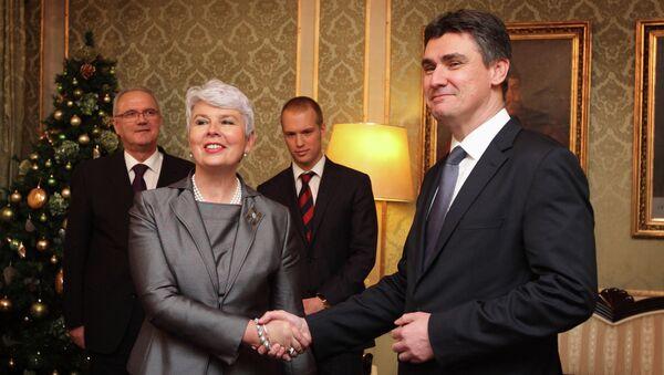 Jadranka Kosor i Zoran Milanović - Sputnik Srbija