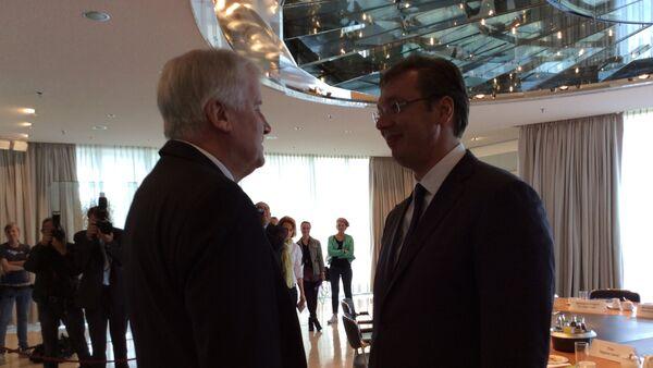 Predsednik Vlade Republike Srbije Aleksandar Vucic i predsednik Vlade Bavarske Horst Zehofer - Sputnik Srbija