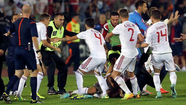 Neredi na utakmici Srbija - Albanija - Sputnik Srbija