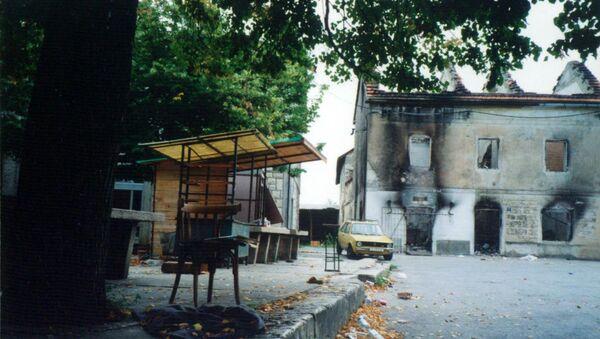 Олуја - иза хрватске војске остале су спаљене и порушене куће - Sputnik Србија