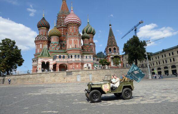 Ruski oldajmeri na Crvenom trgu - Sputnik Srbija