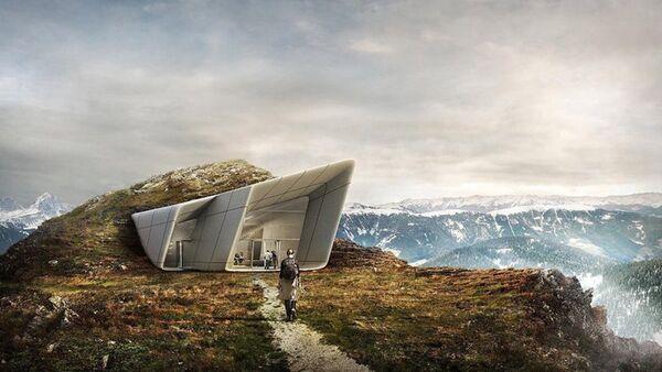 Impresivan futuristički muzej u italijanskim Alpima - Sputnik Srbija