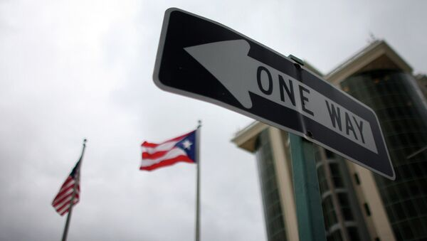 Zastave Portorika i Amerike - Sputnik Srbija