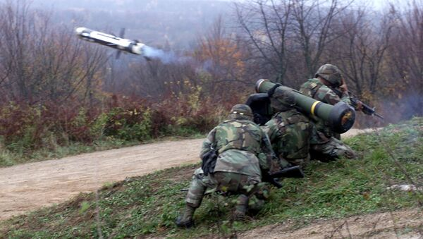 "Пројектил ""џавелин"", амерички преносни противтенковски ракетни комплекс - Sputnik Србија"