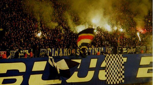 Navijači Dinama Zagreb Bed Blue Bojsi  - Sputnik Srbija