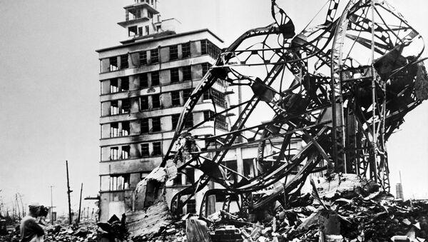 Уништени град Хирошима, три године након бацања атомске бомбе од стране америчког  Б-29, 06. августа 1945. - Sputnik Србија