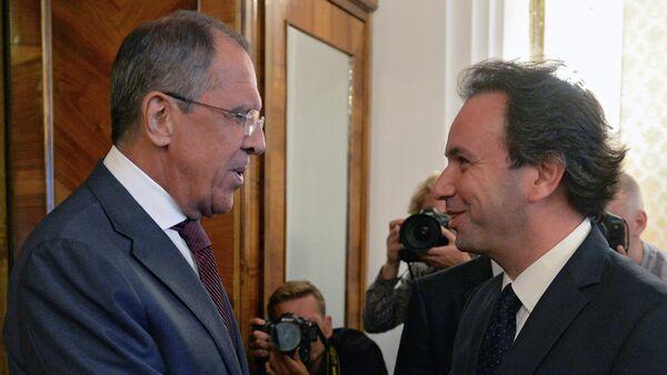 Сергеј Лавров и Халед ел-Хоџа - Sputnik Србија