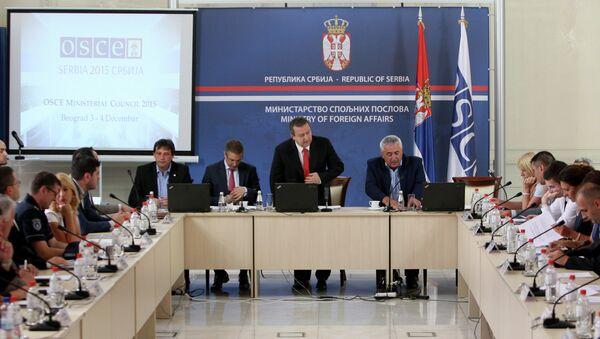 Конференција Ивице Дачића поводом Састанка Министарског савета ОЕБС-а - Sputnik Србија