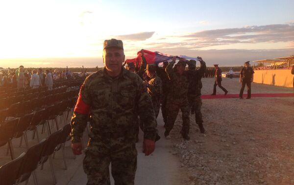 Srpska ekipa slavi treće mesto osvojeno na bitalonu u Alabinu, blizu Moskve - Sputnik Srbija