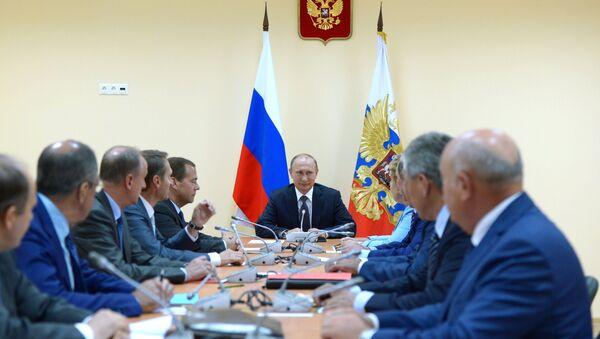Radna poseta ruskog predsednika Vladimira Putina i premijera Dmitrija Medvedeva Krimu - Sputnik Srbija