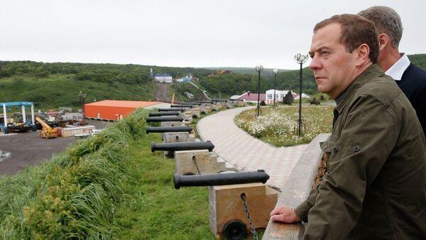 Dmitrij Medvedev u poseti Kurilima - Sputnik Srbija