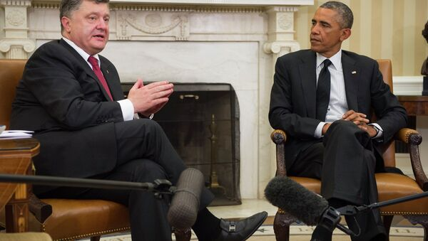 Петро Порошенко и Барак Обама - Sputnik Србија