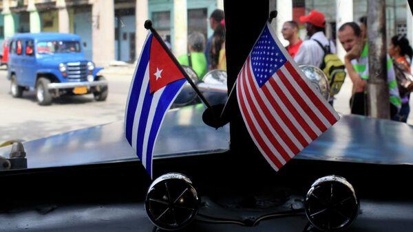 Američka i Kubanska zastava - Sputnik Srbija