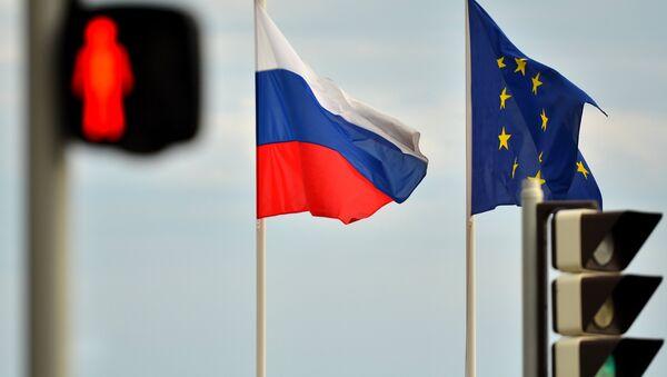 Zastave EU i Rusije - Sputnik Srbija