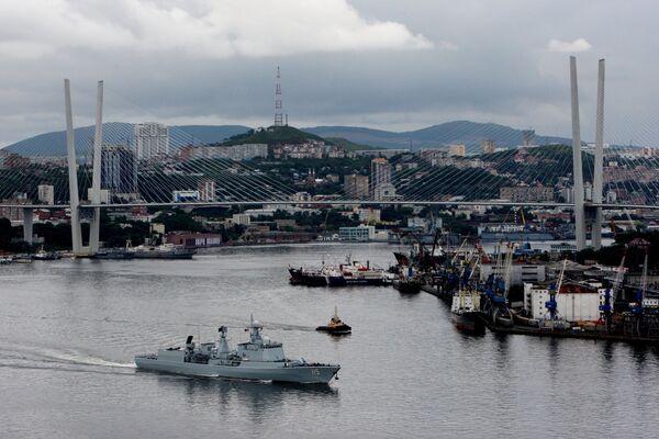 Pomorska saradnja za mir: Rusko-kineske vojne vežbe na Dalekom istoku - Sputnik Srbija