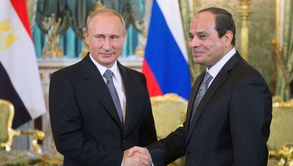 Ruski predsednik Vladimir Putin i predsednik Egipta Abdel el Sisi - Sputnik Srbija