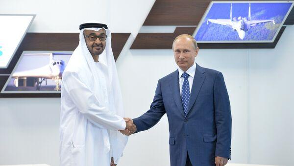 Владимир Путин и шеик Мухамед ибн Зајед ел Нахјан - Sputnik Србија