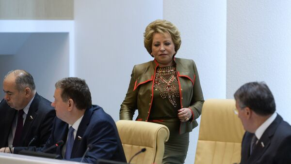 Valentina Matvijenko na sednici Saveta Federacije RF - Sputnik Srbija