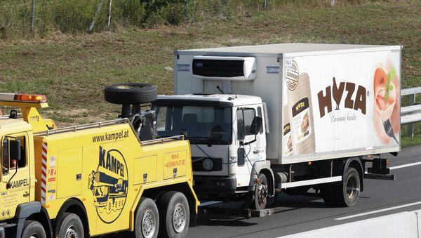 Камион у коме су се угушили мигранти у Аустрији - Sputnik Србија