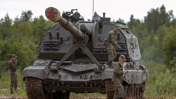 A MSTA-S samohodna haubica prikazana Međunarodnom vojno-tehničkom forumu u Kubinki - Sputnik Srbija