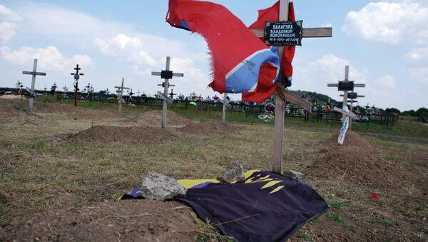 Groblje na kojem su sahranjeni pripadnici milicije DNR - Sputnik Srbija