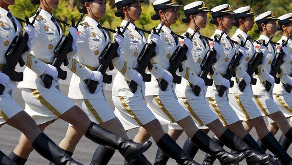 Кинсеки војници марширају током тренинга за параду којом се обележава 70. годишњица завршетка Другог светског рата. - Sputnik Србија