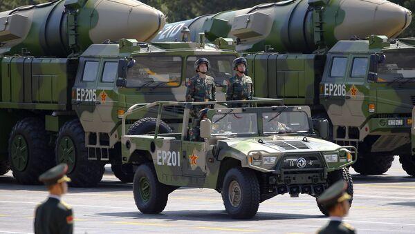 Protivbrodska balistička raketa DF-21D na paradi u Pekingu u čast 70. godišnjice Pobede u Drugom svetskom ratu - Sputnik Srbija