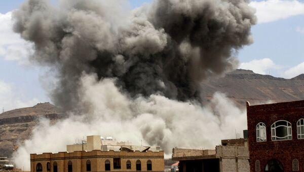Bombardovanje Oružanih snaga Saudijske Arabije baze u Jemenu - Sputnik Srbija