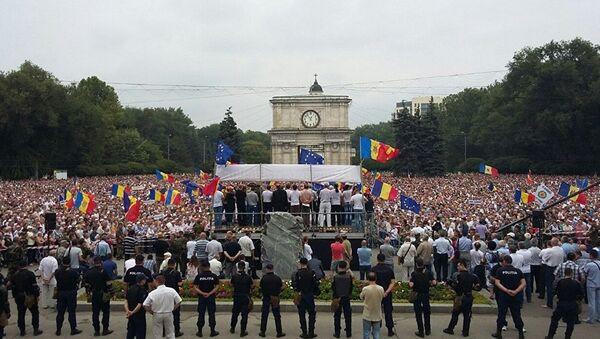 Anti-vladin protest u Kišnjevu, Moldavija - Sputnik Srbija