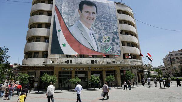Bilbord Bašara Asada u Damasku - Sputnik Srbija