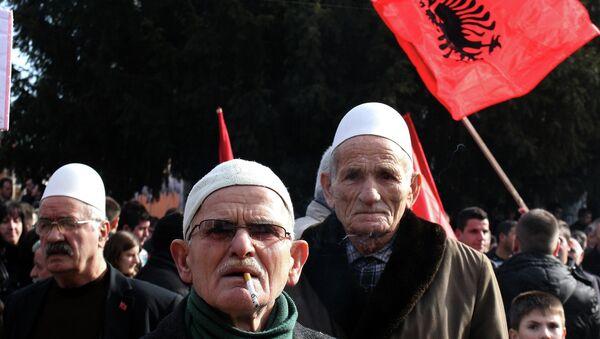 Albanci na protestu u Bujanovcu - Sputnik Srbija