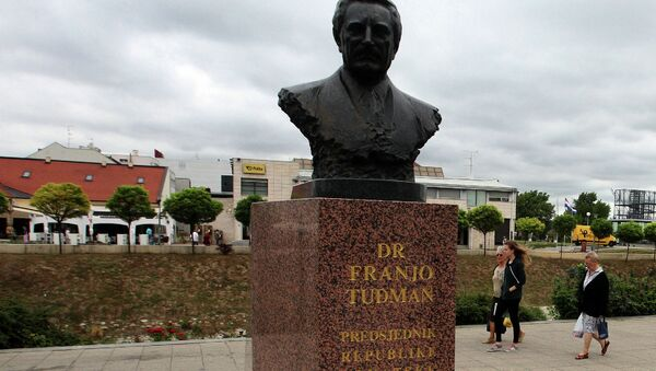 Споменик Фрањи Туђману у Вуковару - Sputnik Србија