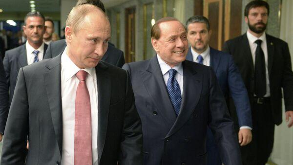 Владимир Путин и Силвио Берлускони - Sputnik Србија