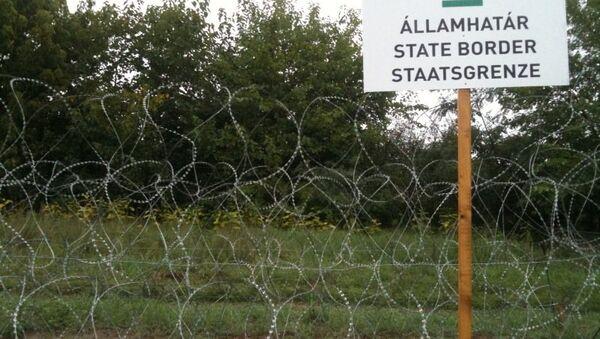 Жица на граници са мађарске стране - Sputnik Србија