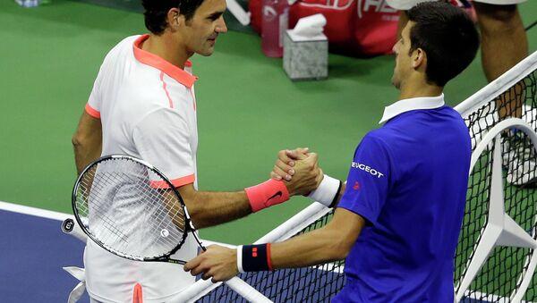 Novak Đoković i Rodžer Federer - Sputnik Srbija