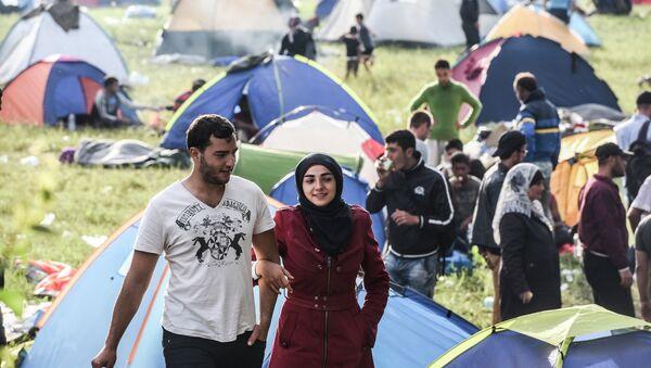 Migranti na granici - Sputnik Srbija