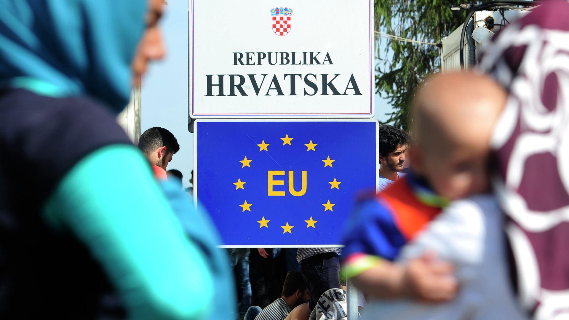 Granični prelaz između Hrvatske i Srbije - Sputnik Srbija, 1920, 08.10.2021