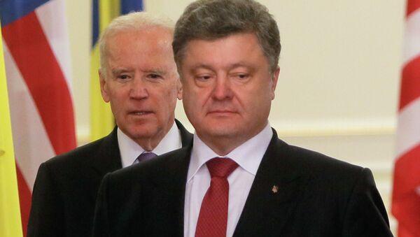 Petro Porošenko i Džozef Bajden - Sputnik Srbija