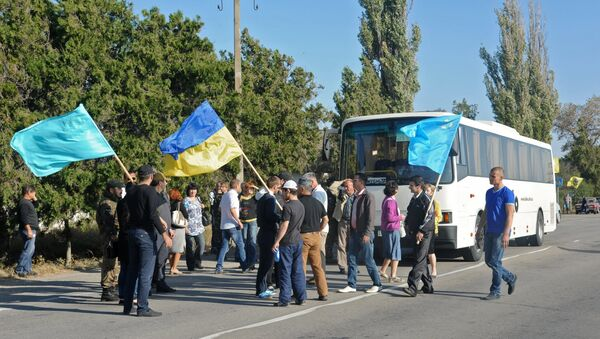 Blokada granice između Ukrajine i Krima - Sputnik Srbija