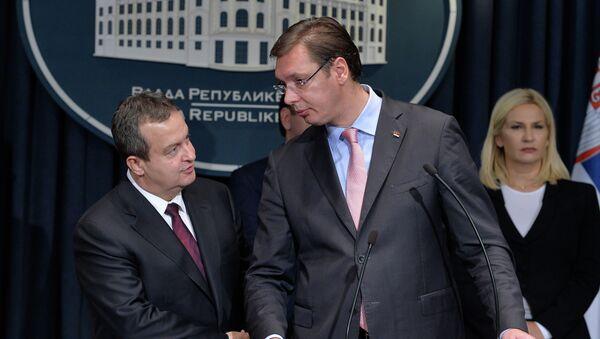 Ivica Dačić, Aleksandar Vučić i Zorana Mihajlović - Sputnik Srbija