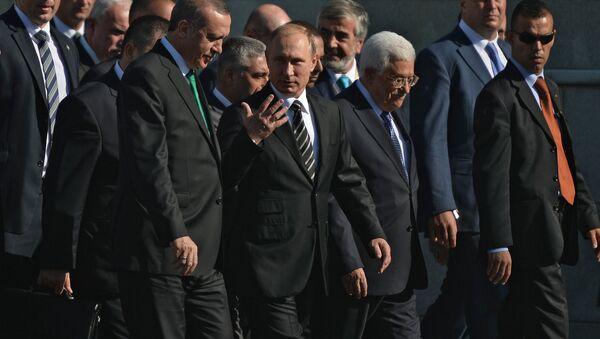 Vladimir Putin na ceremoniju otvaranja džamije - Sputnik Srbija