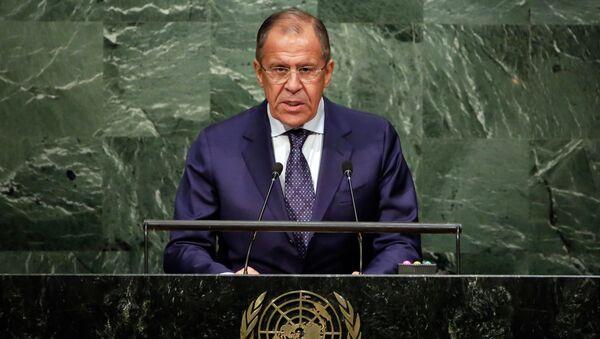 Ministar spoljnih poslova Rusije Sergej Lavrov u UN - Sputnik Srbija